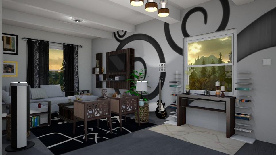 Love in the woodwork - Living room - by Slavania