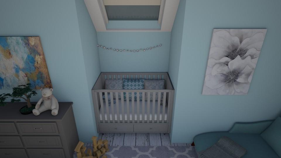 ocean blue - Kids room - by emsph