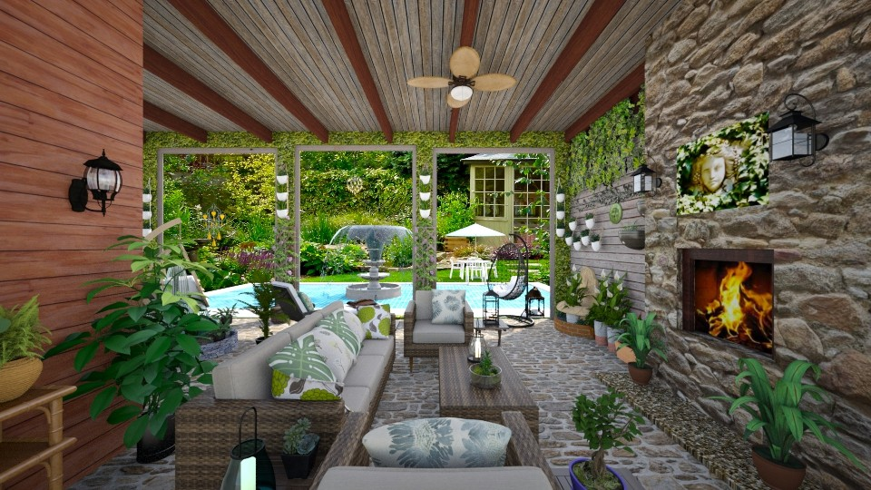 Garden Patio - Classic - Garden - by Kelly Carter