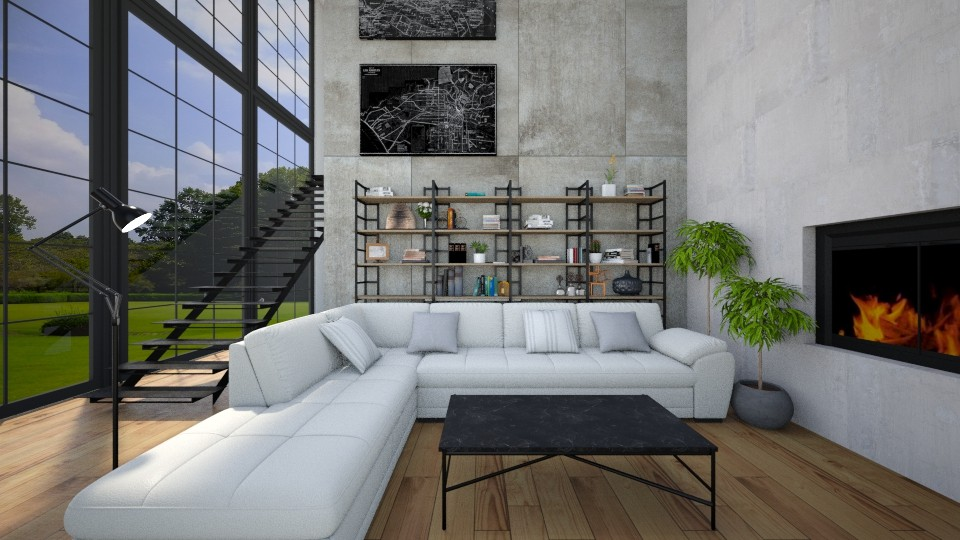 Industrial 2 - Living room - by ArtHousedeco