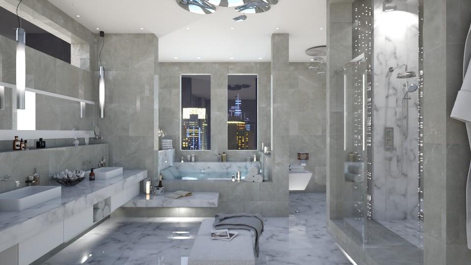 Marble Lights - Bathroom - by Elaenerys