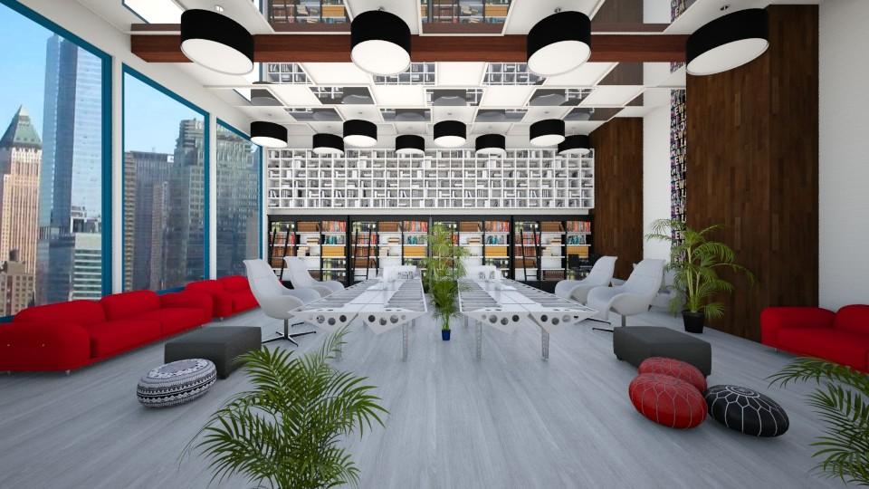 student_hotel - Modern - Living room - by linnda123222