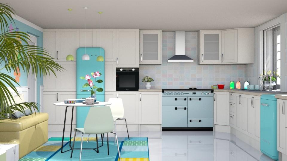 S_Pastel Kitchen - by Shajia Asad