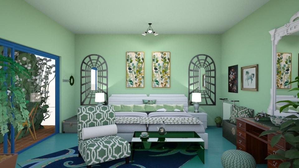 GREEN ROOM - Modern - Bedroom - by nat mi