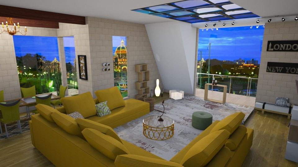 glass n brick - Living room - by jdenae3