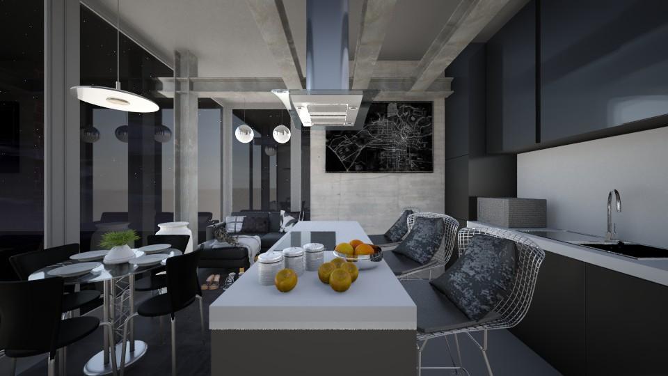 Black Kitchen - Modern - Kitchen - by KK1615