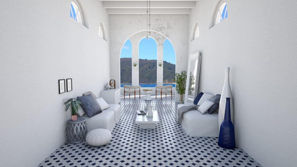 Living Room Greece - Living room - by marleinxs