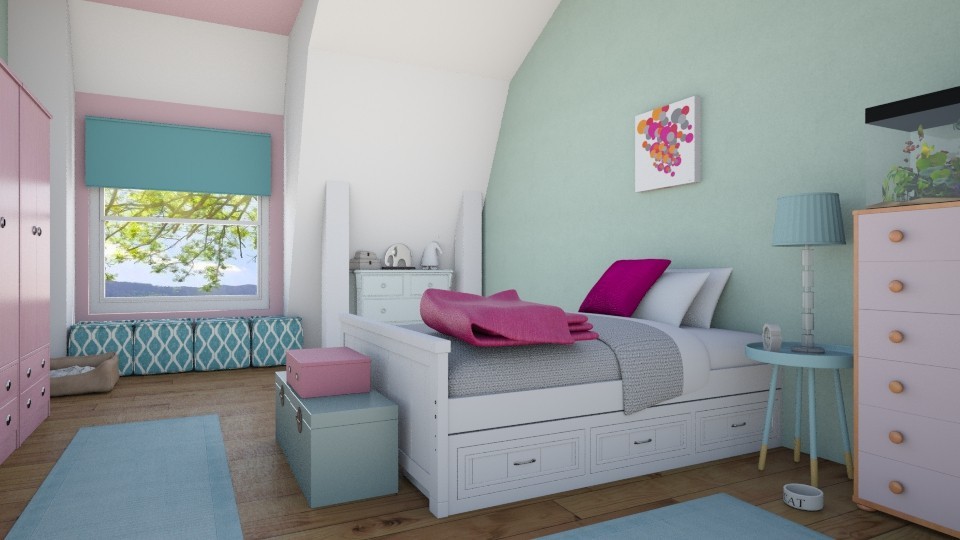 Girl Bedroom - Bedroom - by Sanja Pipercic