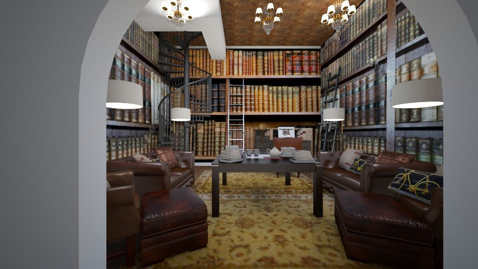 the library - Masculine - by kla
