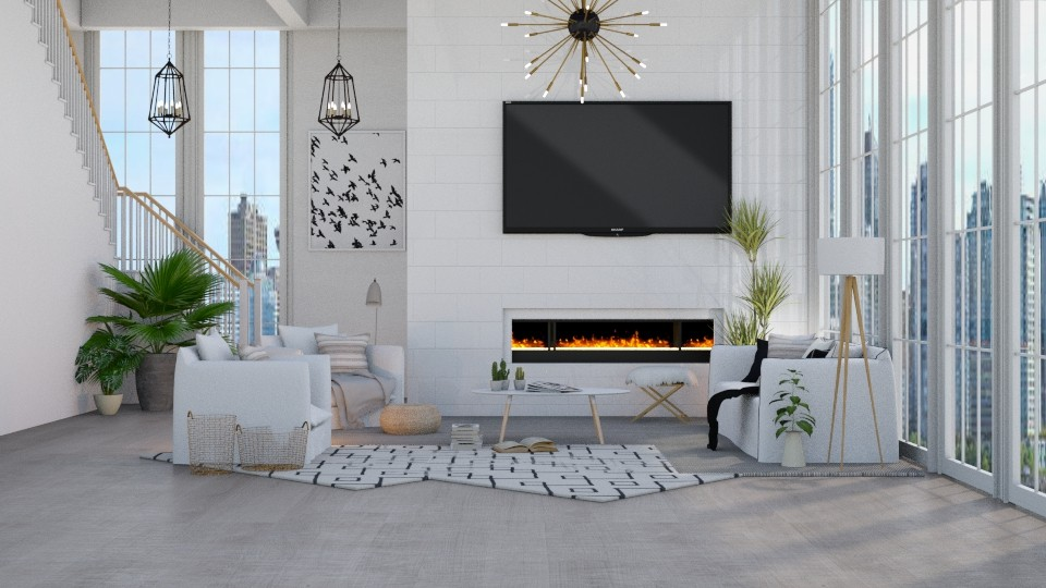 Apartment 1 - Modern - Living room - by NEVERQUITDESIGNIT
