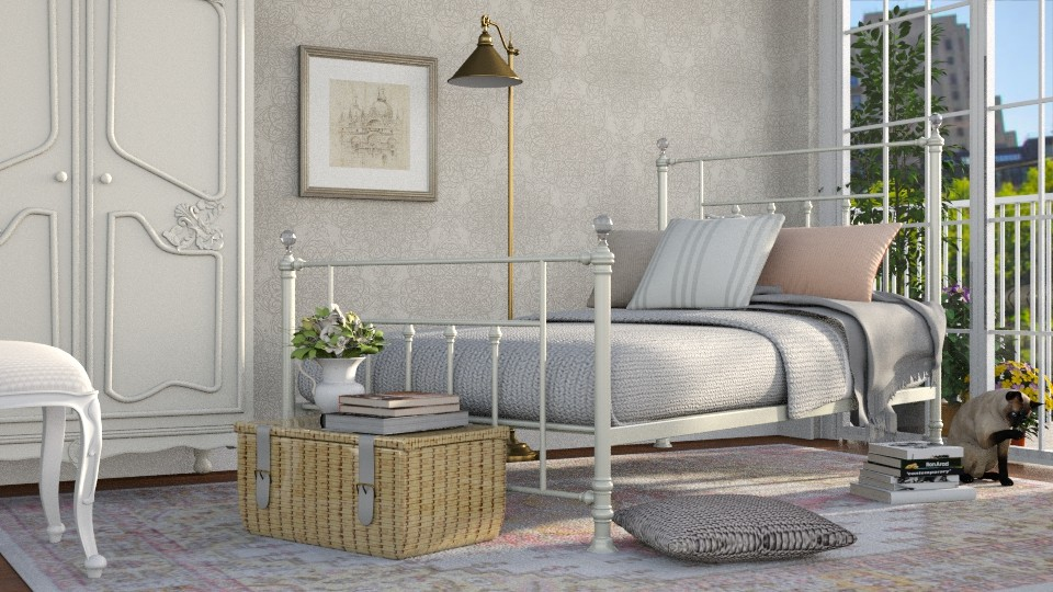 A Single Bed - Bedroom - by GraceKathryn