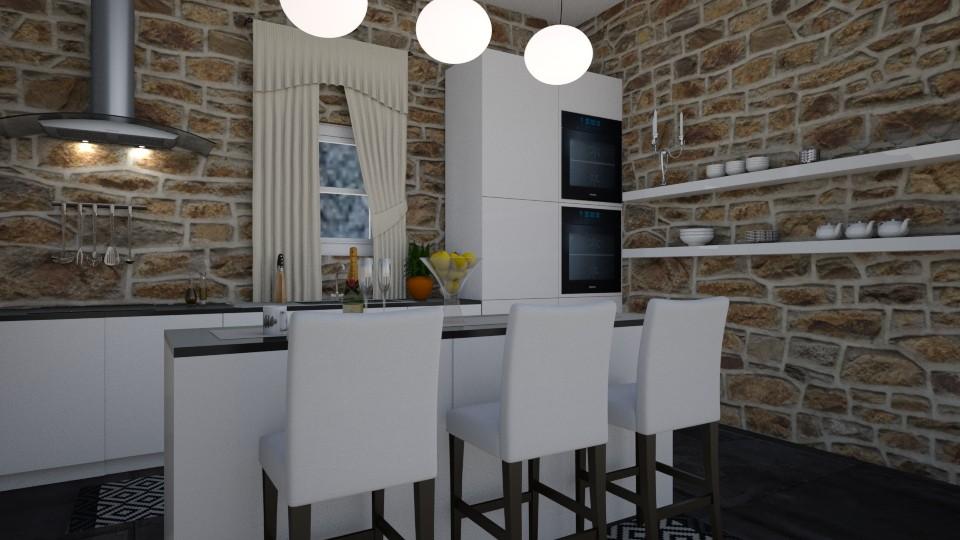 Black and white kitchen - Kitchen - by __Nikoletta__