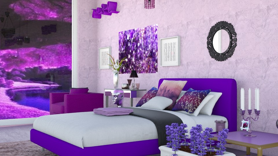 Amethyst   - Glamour - Bedroom - by InteriorDesigner111