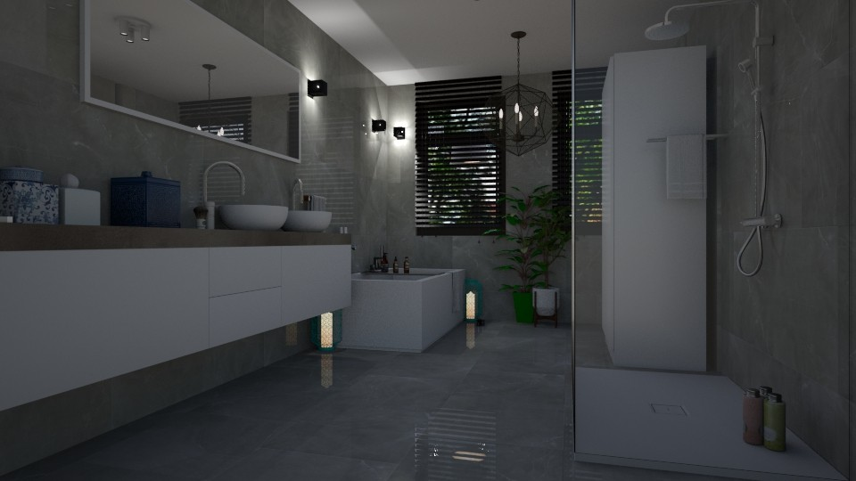 M shiny gray - Minimal - Bathroom - by fungiperfecti