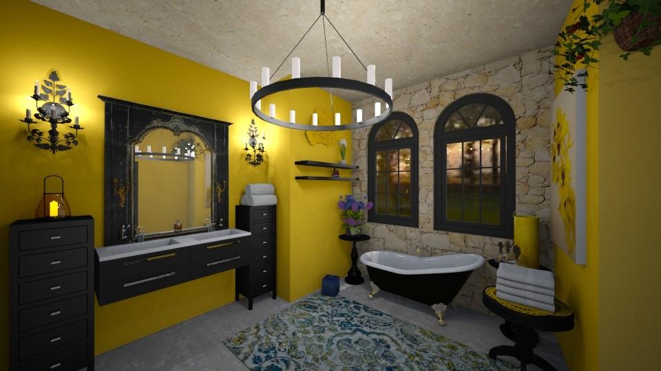 Yellow Bathroom - Bathroom - by sherryDN