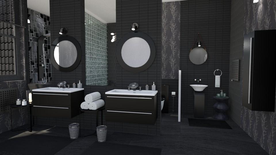 salt and peper - Bathroom - by Moonpearl