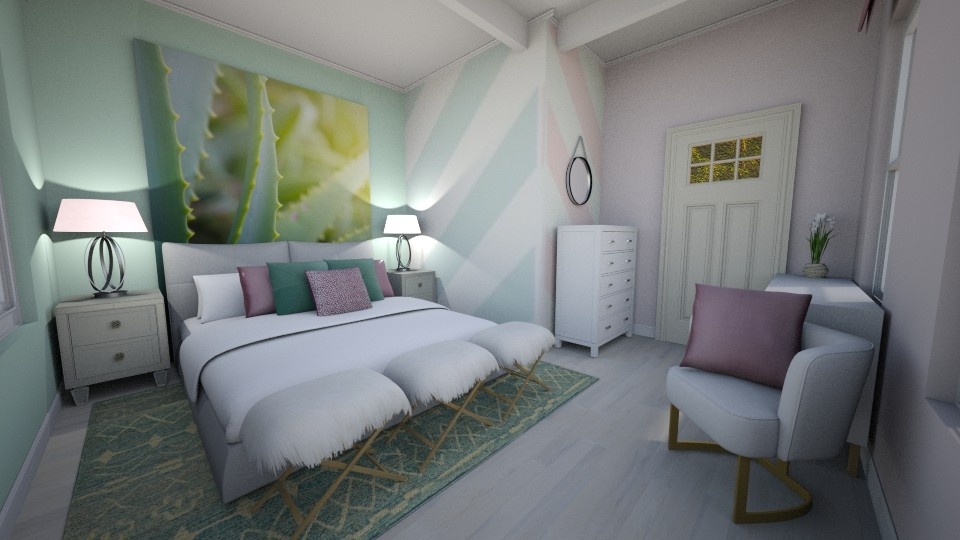 Chevron Room - Bedroom - by PenAndPaper