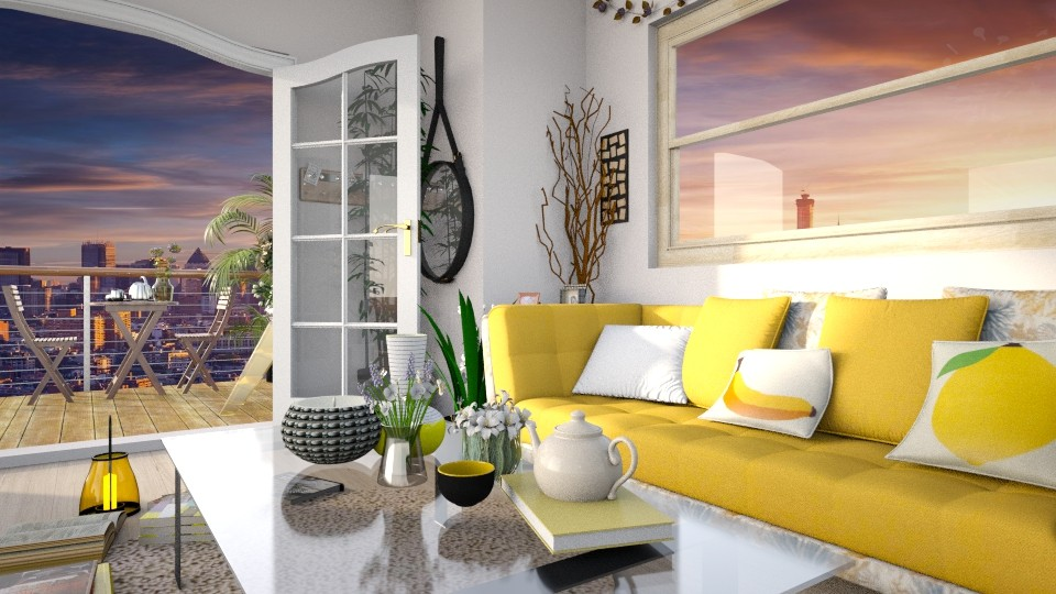 Mellow Yellow - Living room - by _firecrackers