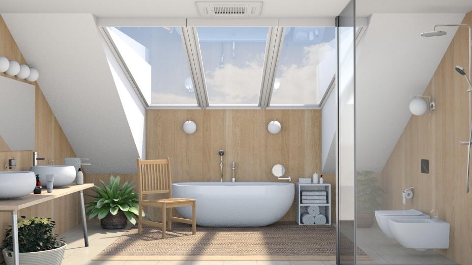 Attic Bathroom - Bathroom - by GraceKathryn