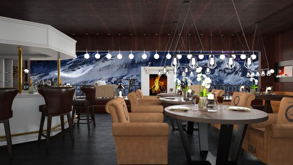 Cozy Restaurant  - Dining room - by InteriorDesigner111