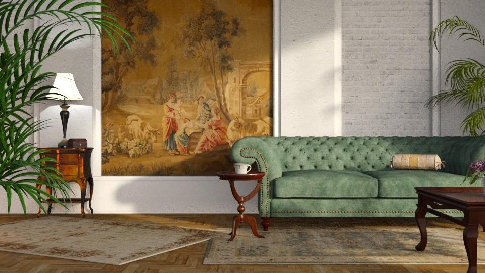 Tapestry and Velvet 3 - Living room - by GraceKathryn