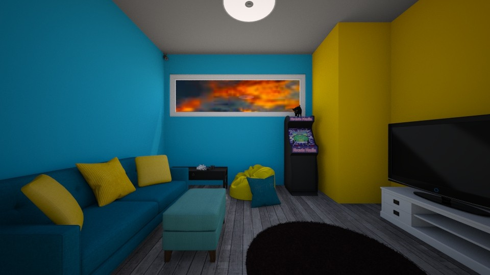room for art class - Living room - by ToastAndJam
