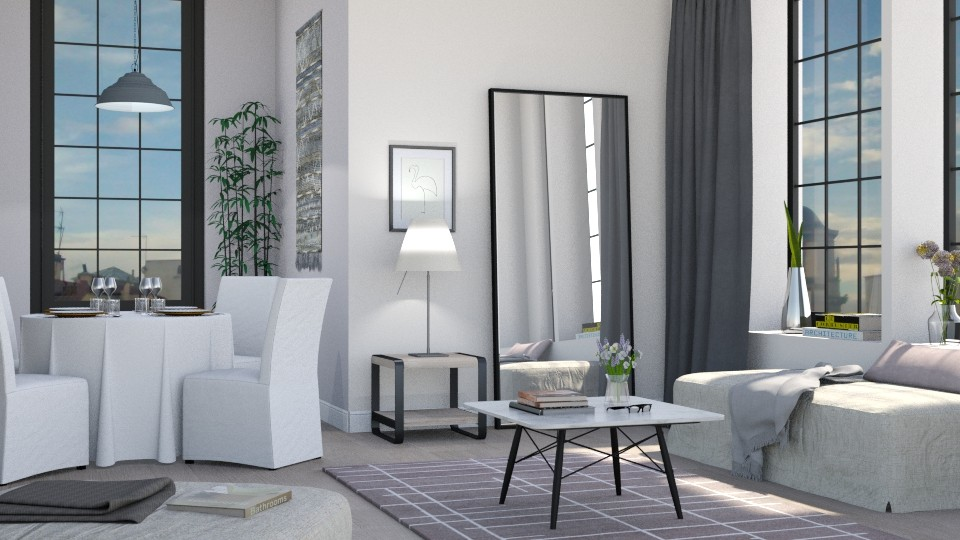 Grey Living - Living room - by Sally Simpson