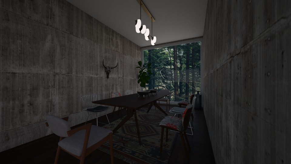 Dining room 1 - Rustic - Dining room - by nazlazzhra