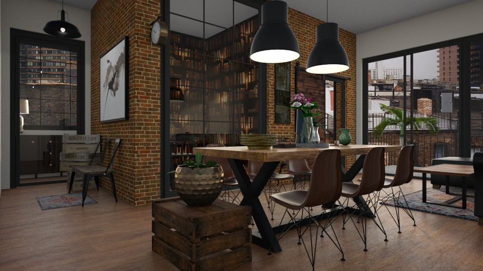 Industrial Dining - Dining room - by rachaelp636