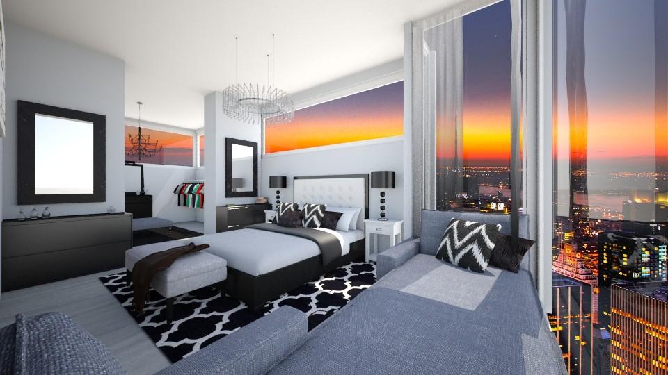 black bedroom - Bedroom - by luciajaimedc