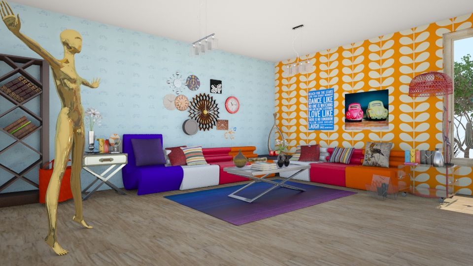 sala colors - Living room - by Claudia Servin leyva