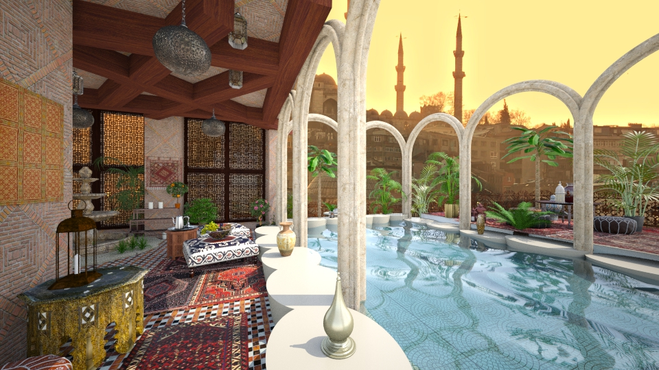 Istanbul roof garden - by Aurora Boreas