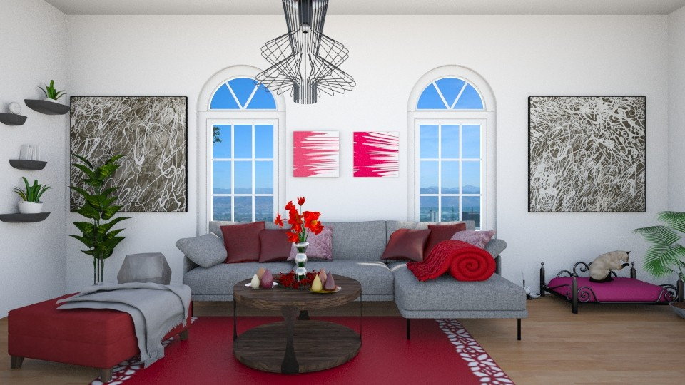 burgundy - Living room - by Noa Sardoz
