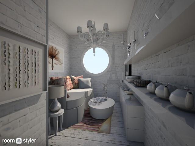 Nakagi Capsule Room 2 - Living room - by ElenaSpr