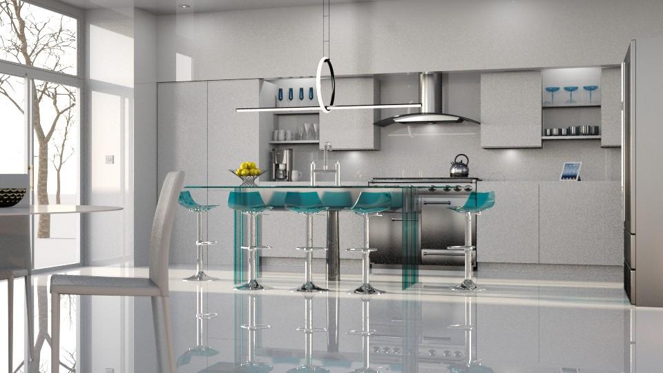 White Room Kitchen - Kitchen - by GraceKathryn