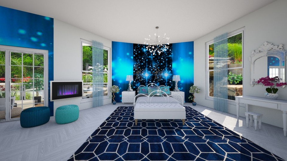 blue details - Bedroom - by sirtsu