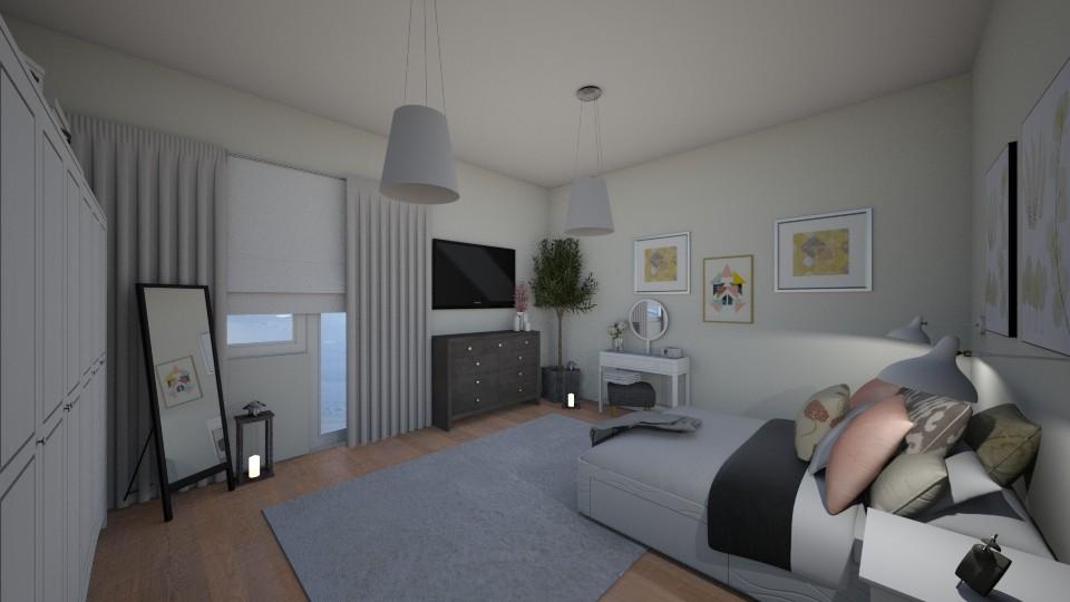 bedroom - Bedroom - by Aleksandra Boguta