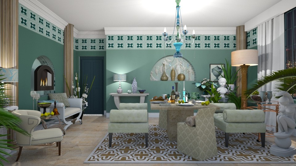Triclinium In Modern Home - Global - Dining room - by janip