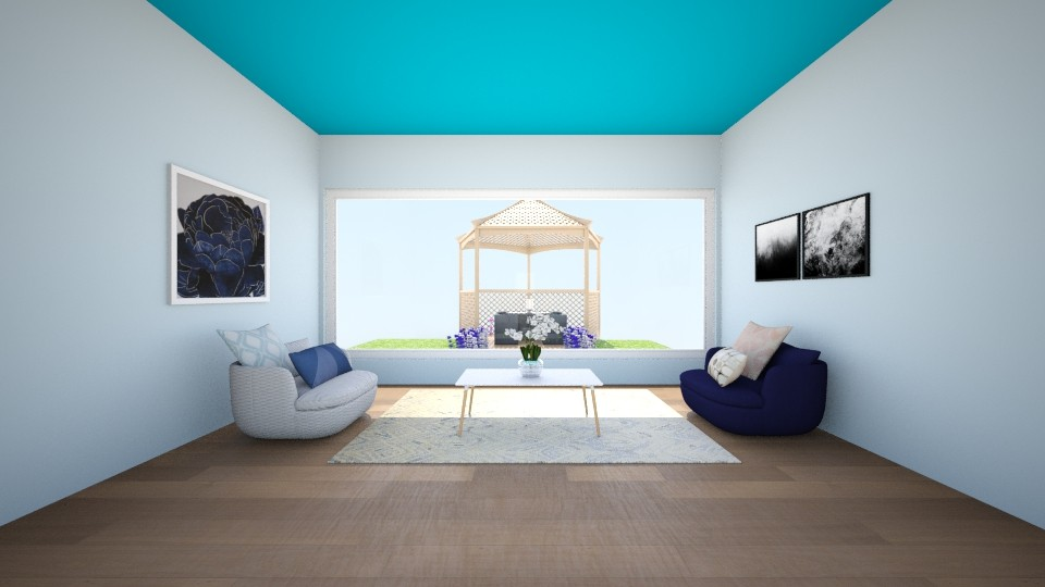 Blue - Living room - by janelleyc3