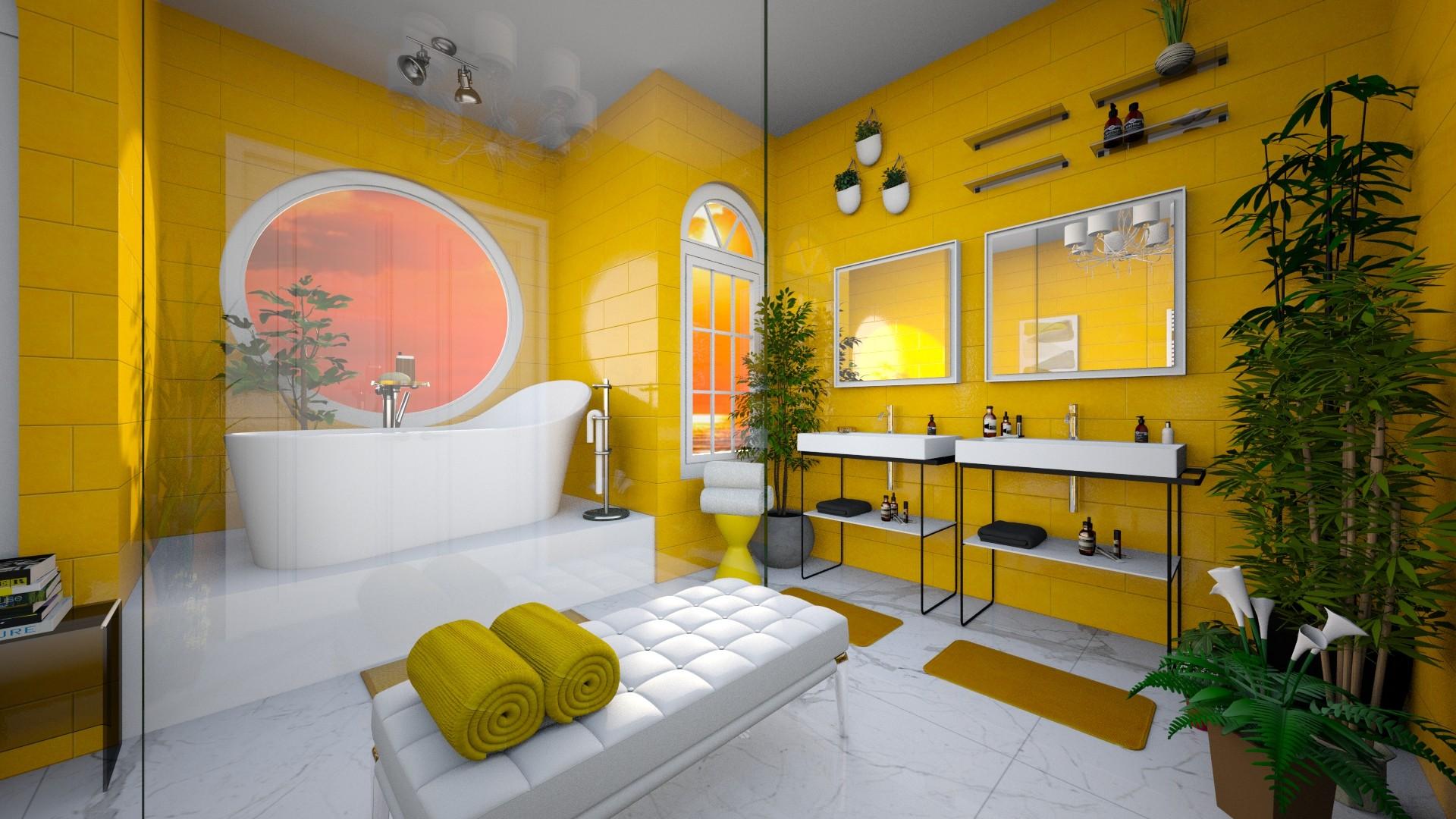 Yellow - Bathroom - by Ranita3000