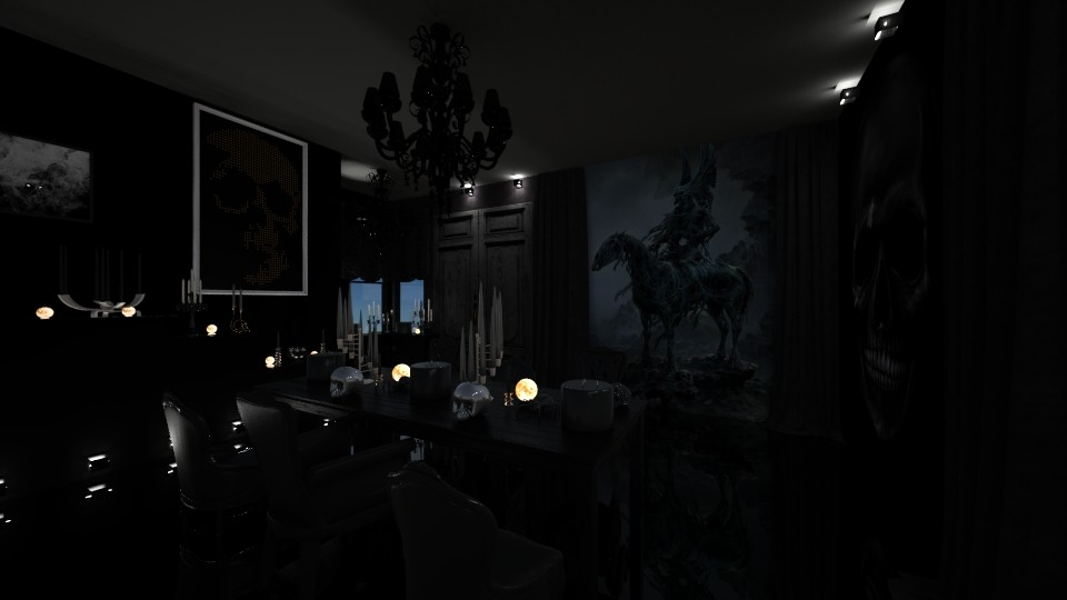 Samhain - Dining room - by Jade Autumn