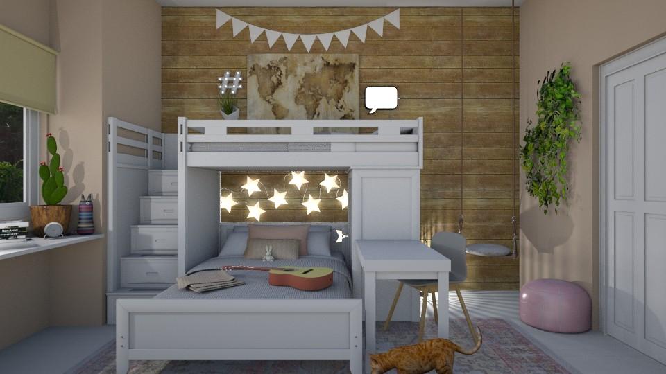 Bunk Buddies - Kids room - by mgirlie30