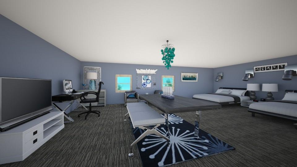 Homey Hotel Room - Modern - Bedroom - by gloucestergirl04