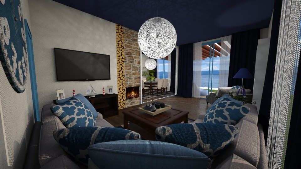 mediterranean - Living room - by seldina
