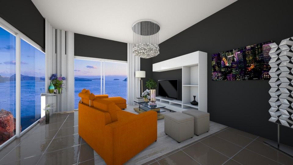 orenge living room - Living room - by eleonoraxruc