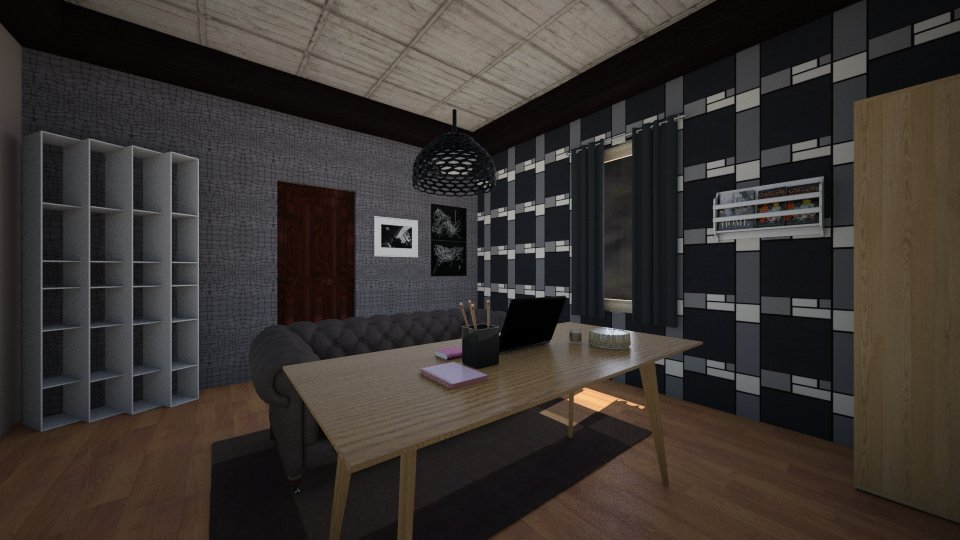 Dark_livingroom - Global - Living room - by linnda123222