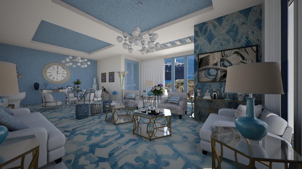shibori - Living room - by Maria Helena_215