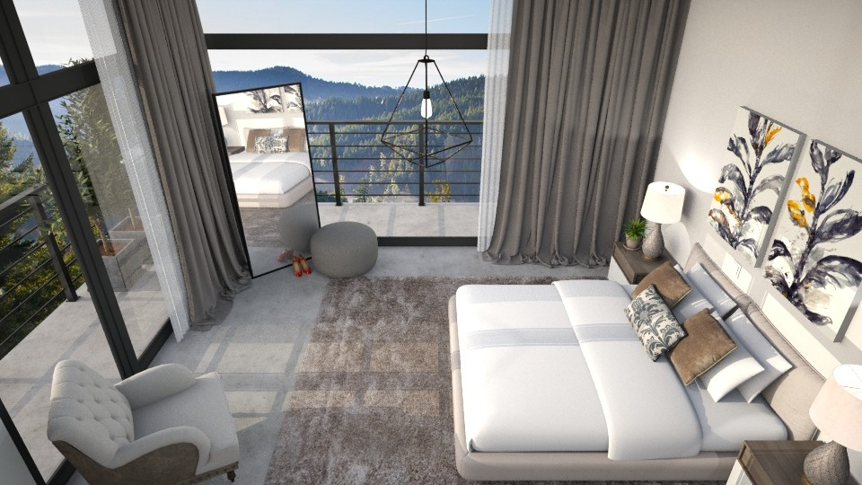 Serenity From Above - Modern - Bedroom - by DeborahArmelin