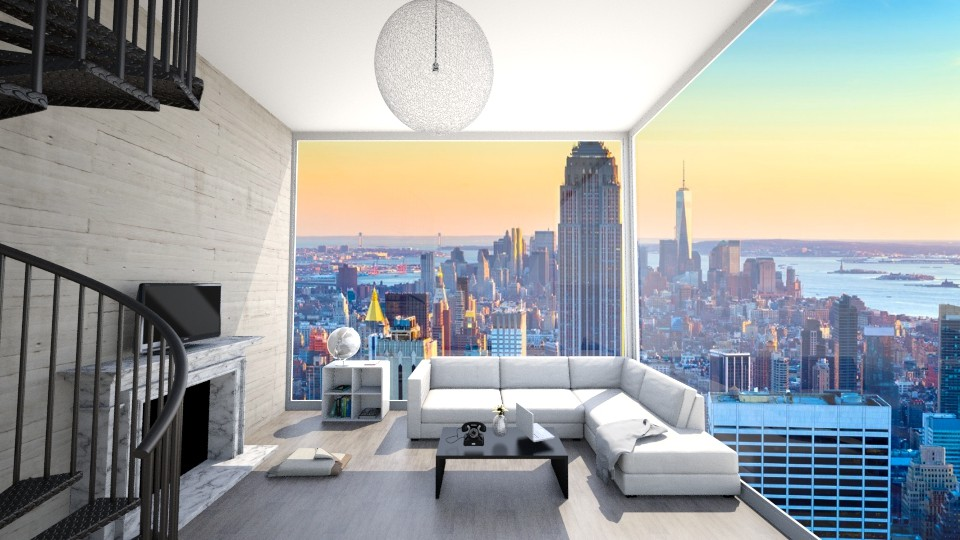 New York City Loft  - Modern - Living room - by ansleymwhitaker