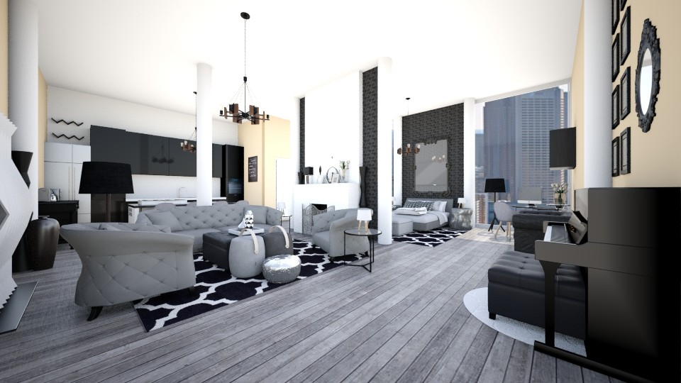 One Floor Grey - Eclectic - Living room - by CreativeCE
